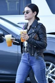 Lucy Hale - Seen outside Coffee Bean in Studio City