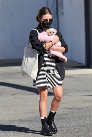 Lucy Hale - Seen while adopts a new puppy in Studio City