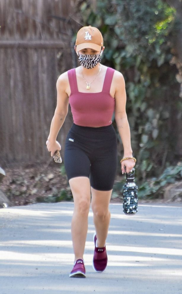 Lucy Hale - Seen while out for a hike in Los Angeles