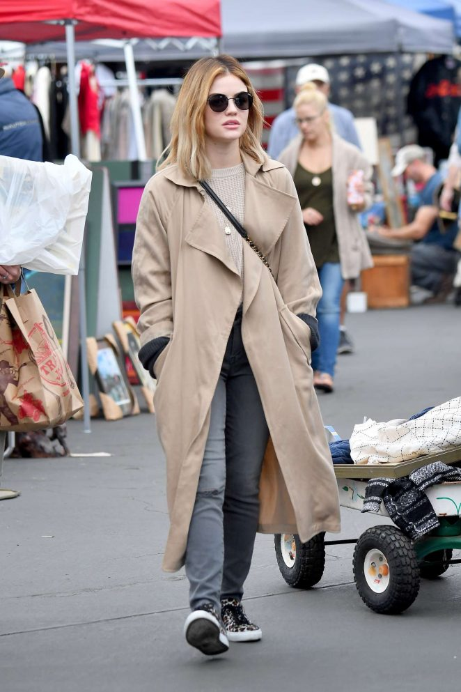 Lucy Hale 2018 : Lucy Hale: Shopping at a Local Flea Market -05