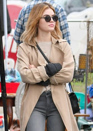 Lucy Hale - Shopping at a Local Flea Market in Los Angeles