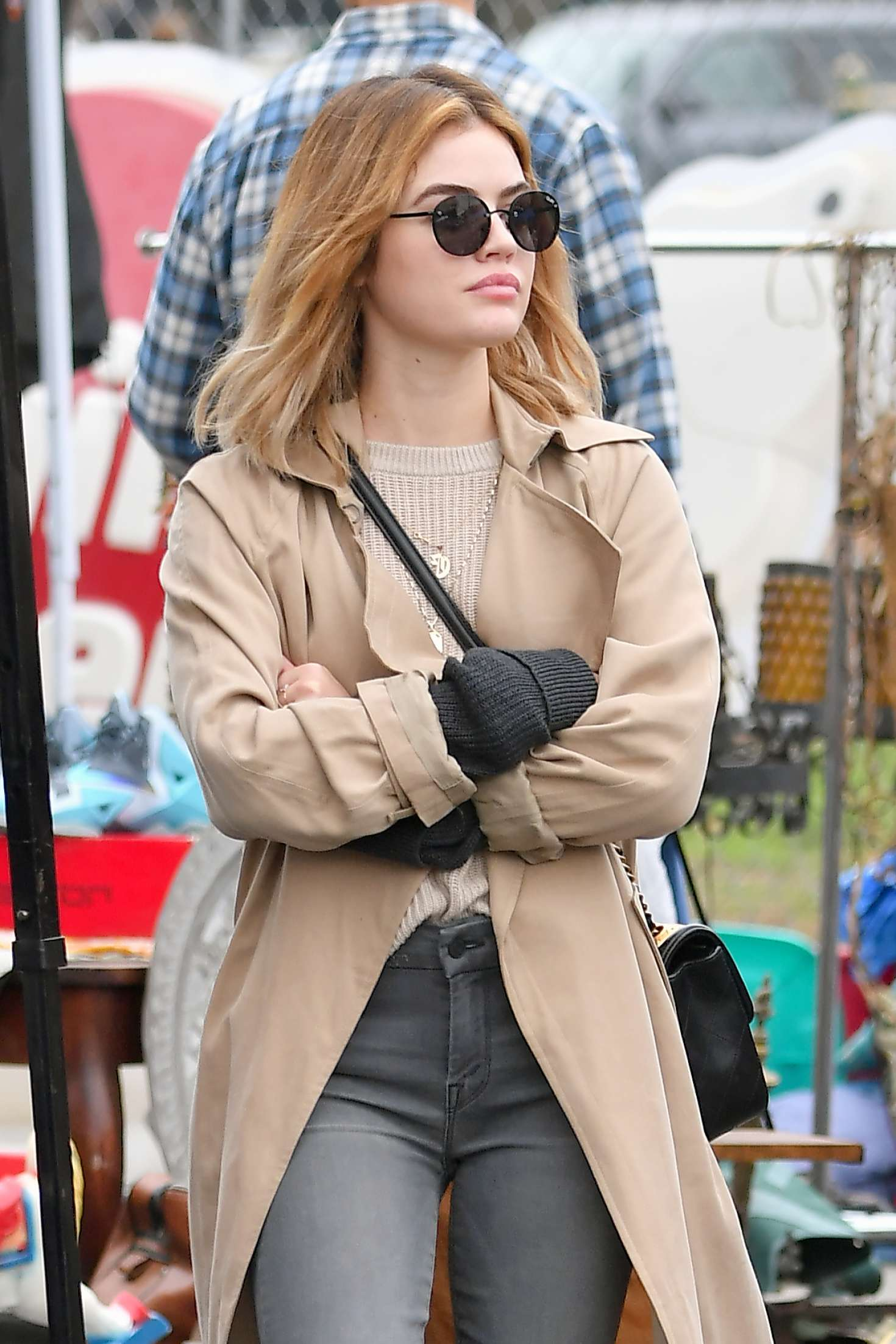 Lucy Hale – Shopping at a Local Flea Market in Los Angeles