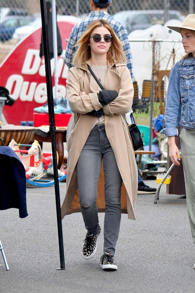 Lucy Hale 2018 : Lucy Hale: Shopping at a Local Flea Market -15