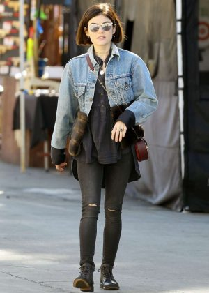 Lucy Hale - Shopping at Flea Market in Los Angeles