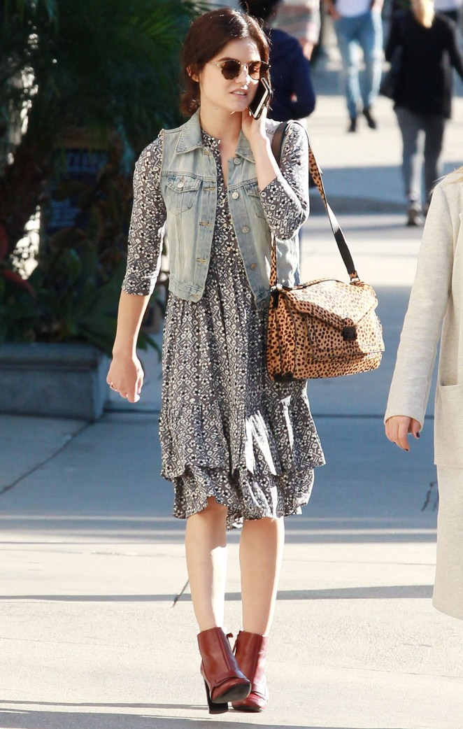 Lucy Hale – Shopping at Kitson in Beverly Hills