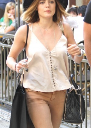 Lucy Hale - Shopping at The Grove in West Hollywood