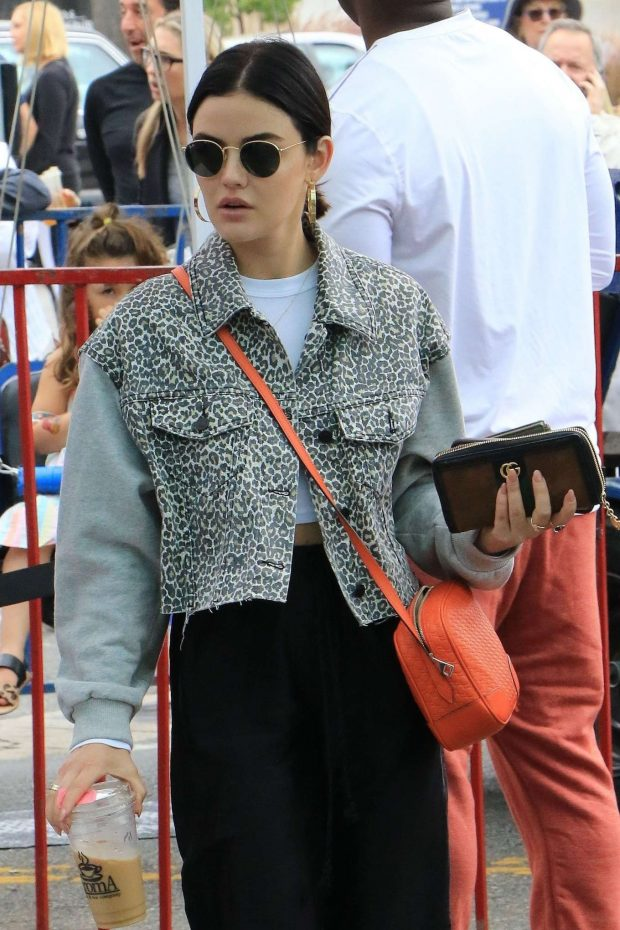 Lucy Hale - Shopping at the local farmer's market in Studio City