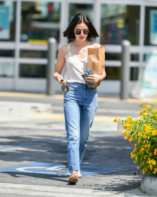Lucy Hale – Shopping at Walgreens in Los Angeles
