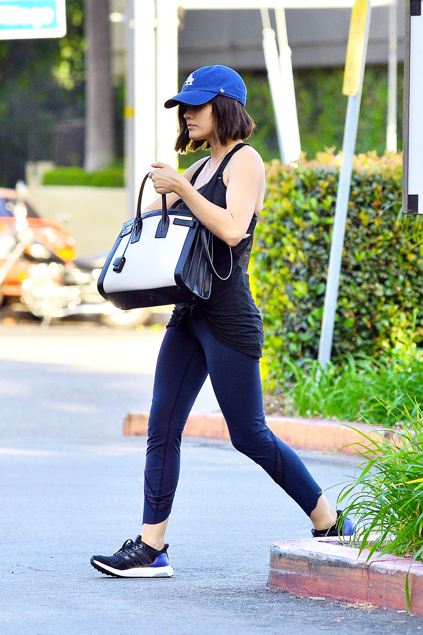 Lucy Hale in Leggings Shopping at Whole Foods in LA