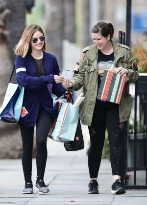 Lucy Hale - Shopping with a friend in LA