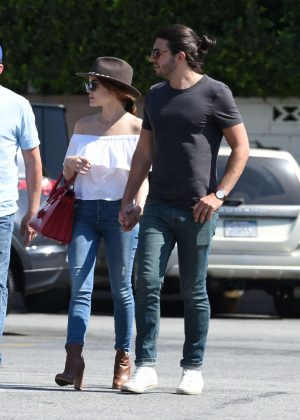 Lucy Hale - Shopping with a friends in Los Angeles