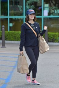 Lucy Hale - Shops for groceries in Studio City
