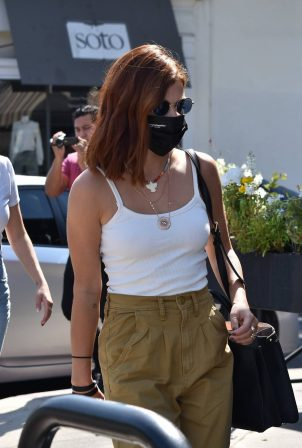 Lucy Hale - Show new hair color at Sweet Butter in Sherman Oaks