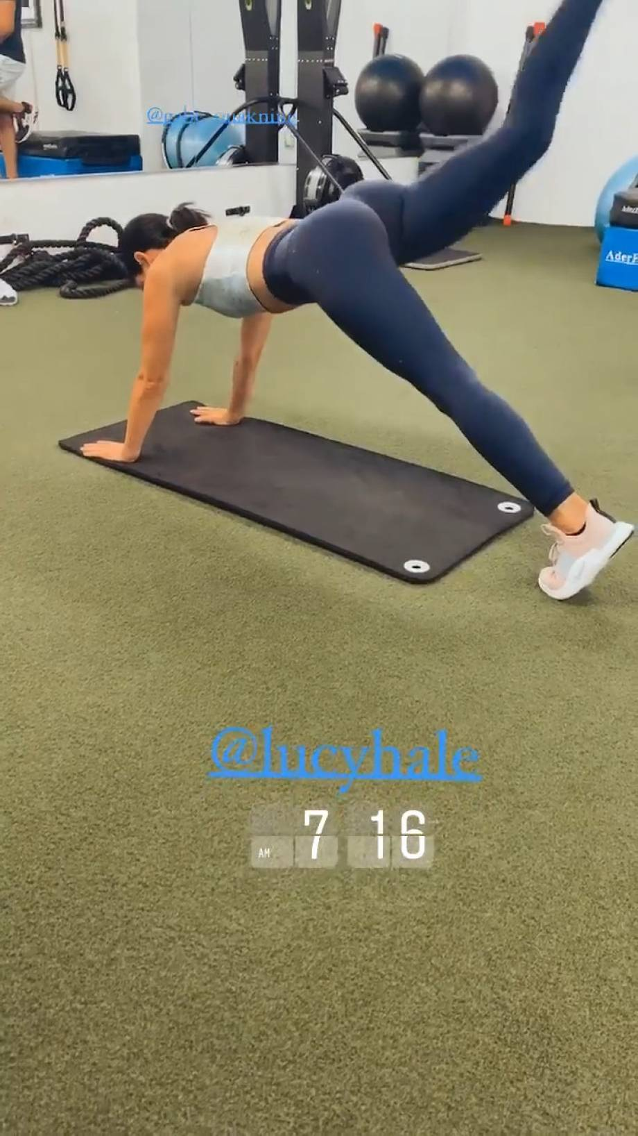 Lucy Hale - Social workout
