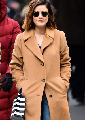 Lucy Hale - Sopping on 5th Avenue in NYC