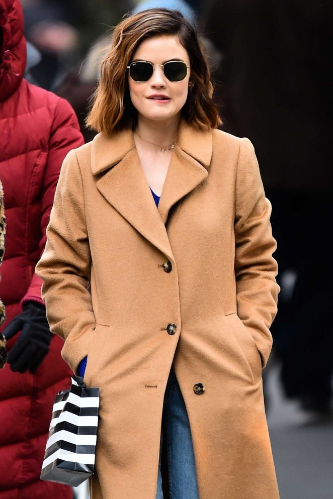 Lucy Hale – Sopping on 5th Avenue in NYC