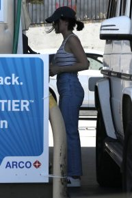 Lucy Hale - Spotted at the Gas Station