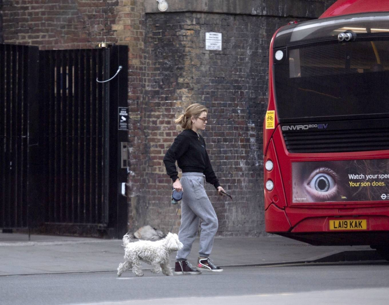 Lucy Hale 2021 : Lucy Hale – Steps out for a walk with her dog in London-01