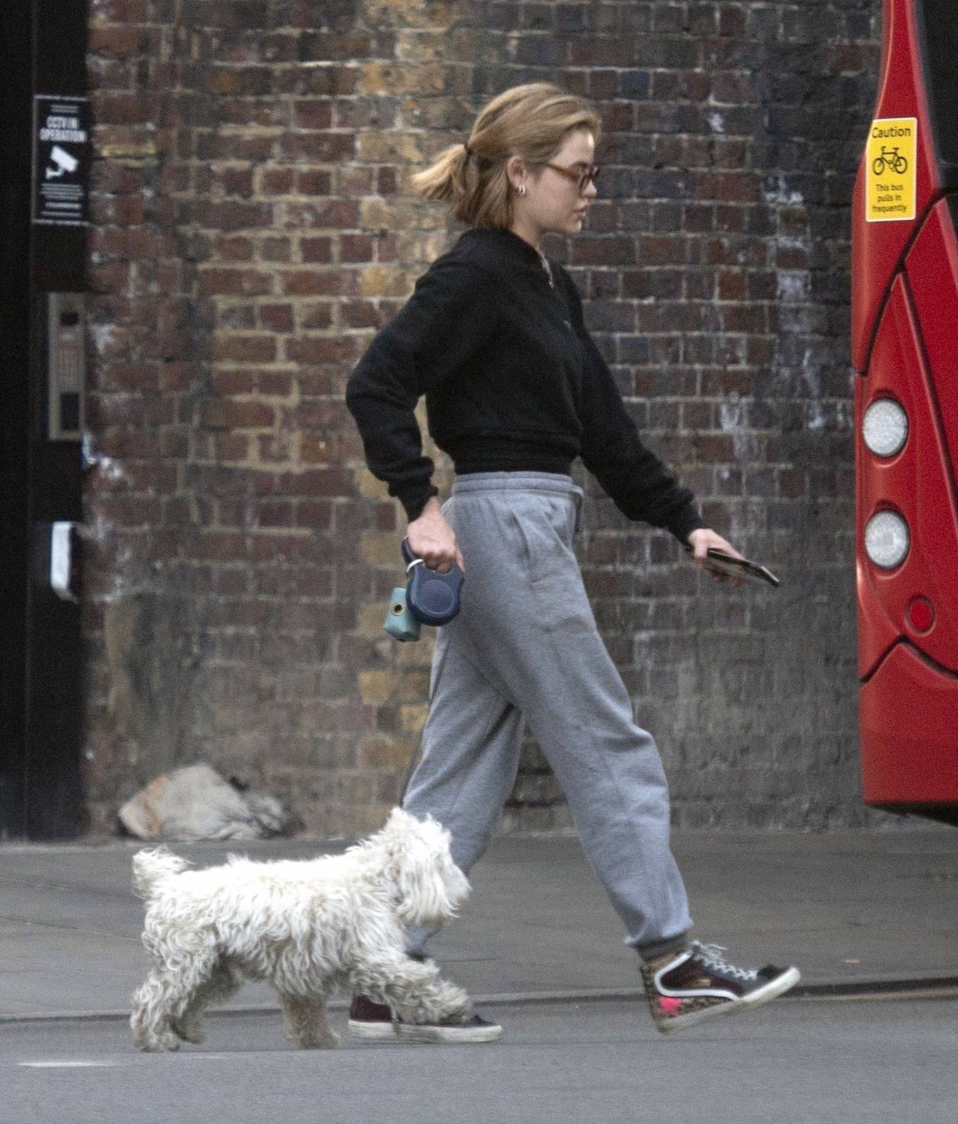 Lucy Hale 2021 : Lucy Hale – Steps out for a walk with her dog in London-02