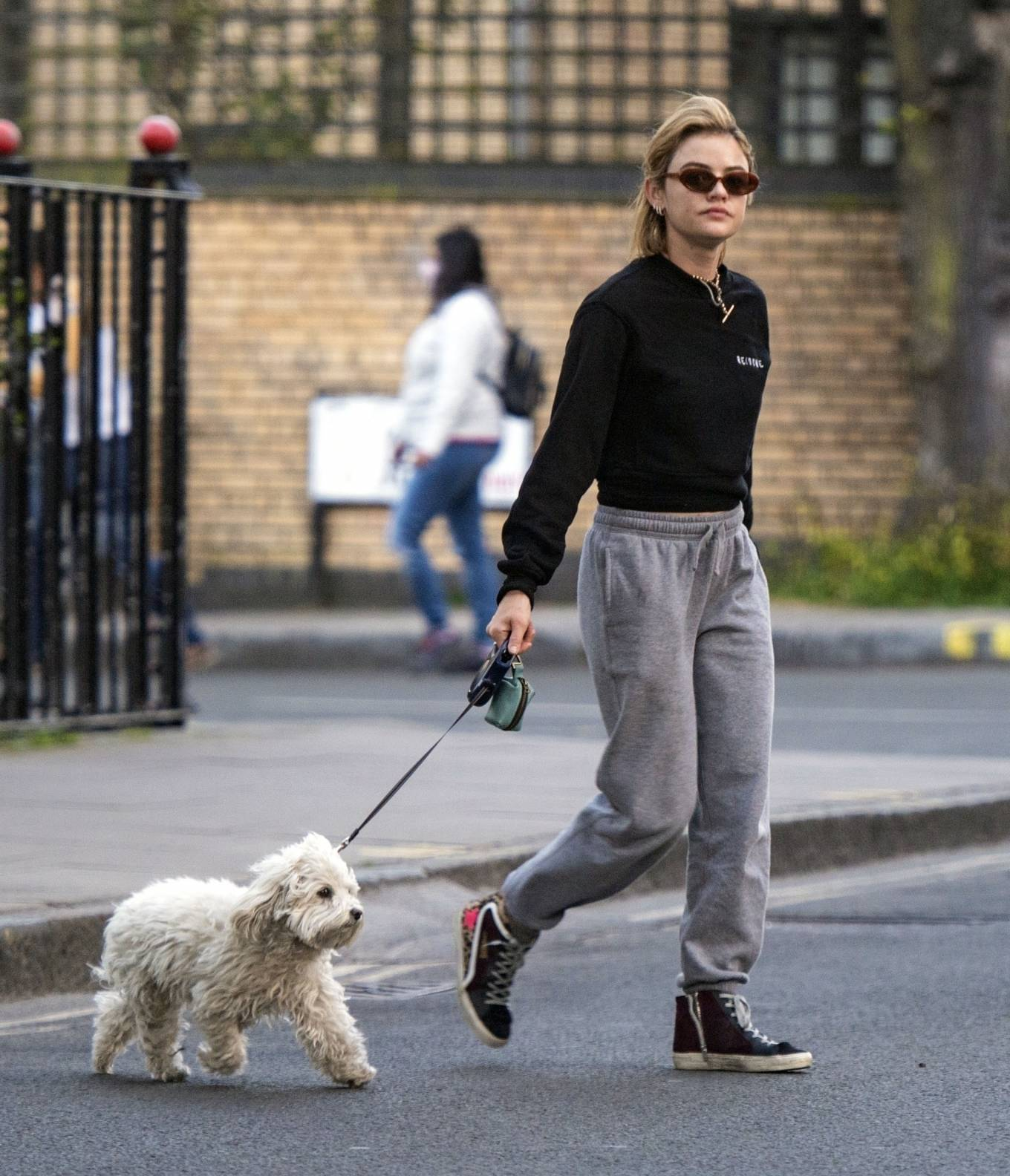 Lucy Hale 2021 : Lucy Hale – Steps out for a walk with her dog in London-10
