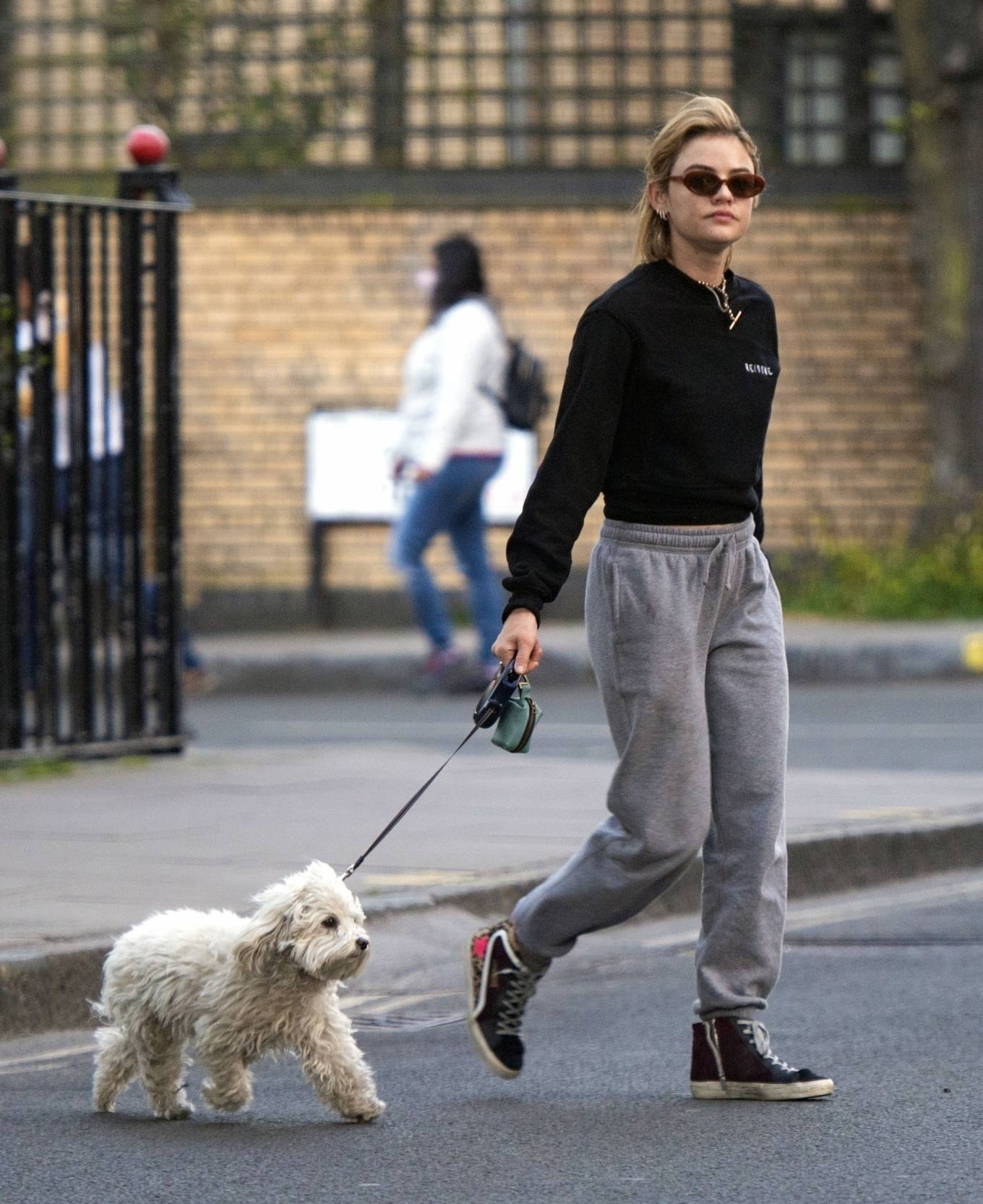 Lucy Hale 2021 : Lucy Hale – Steps out for a walk with her dog in London-15