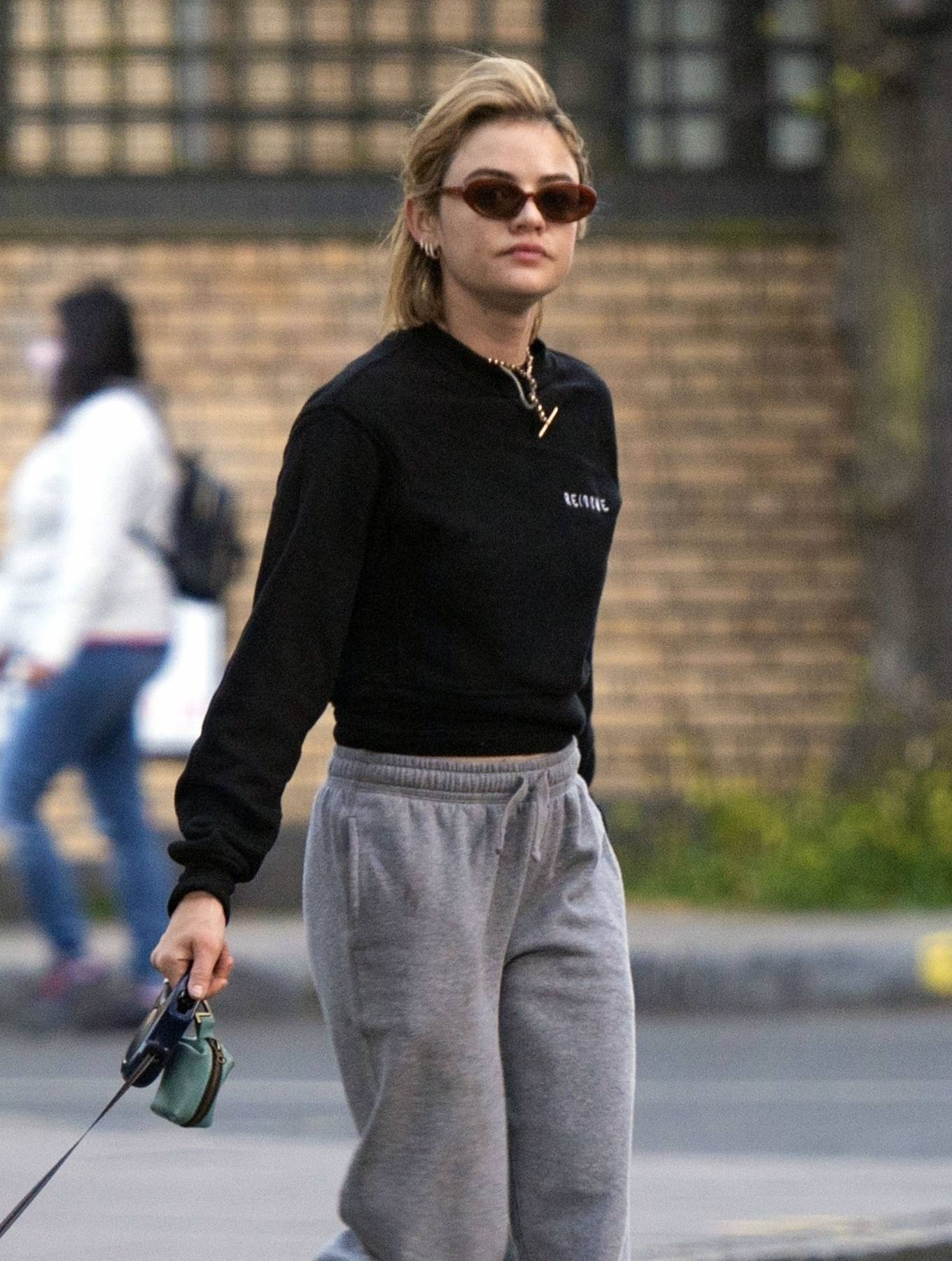 Lucy Hale 2021 : Lucy Hale – Steps out for a walk with her dog in London-16