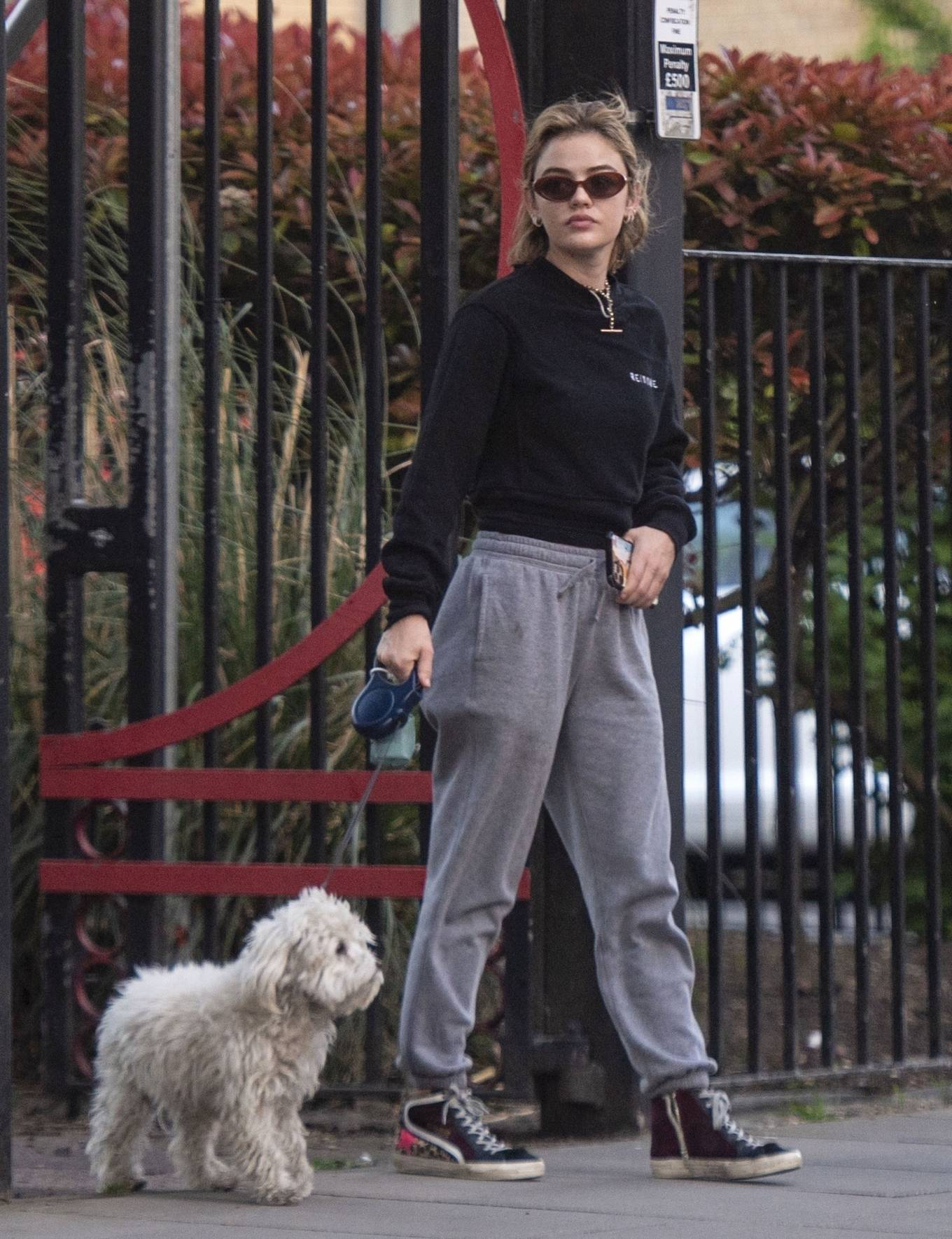 Lucy Hale 2021 : Lucy Hale – Steps out for a walk with her dog in London-18