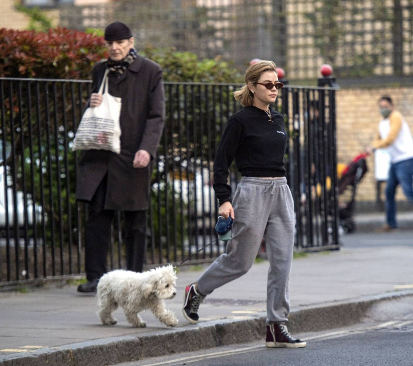 Lucy Hale 2021 : Lucy Hale – Steps out for a walk with her dog in London-20