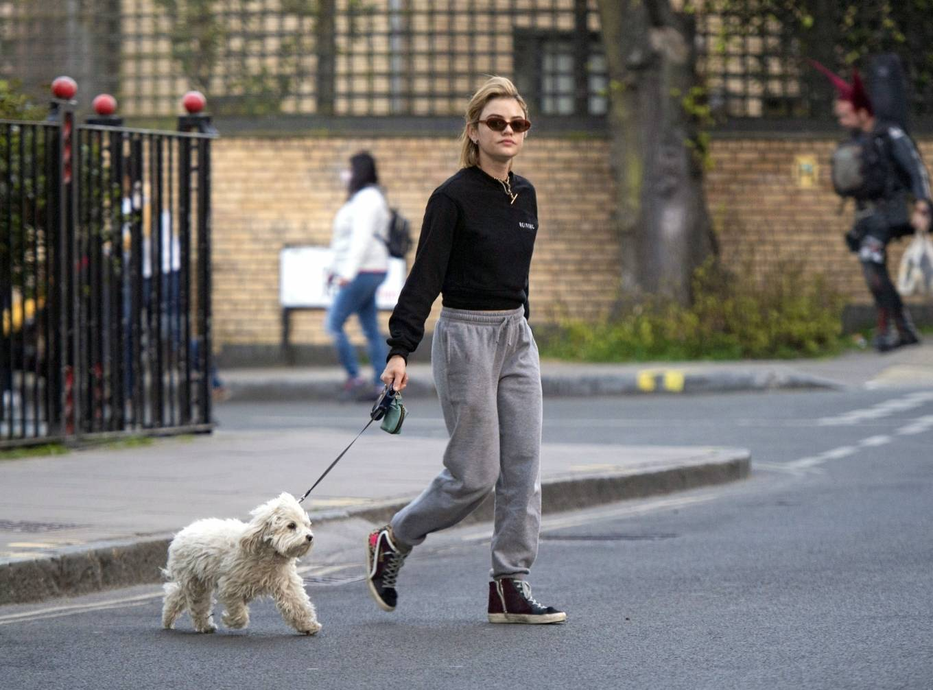 Lucy Hale 2021 : Lucy Hale – Steps out for a walk with her dog in London-21