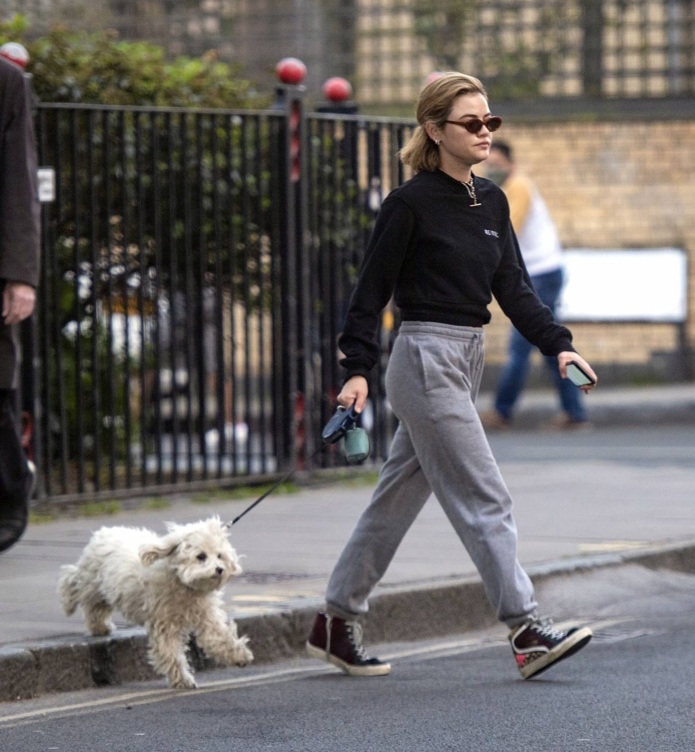 Lucy Hale 2021 : Lucy Hale – Steps out for a walk with her dog in London-23