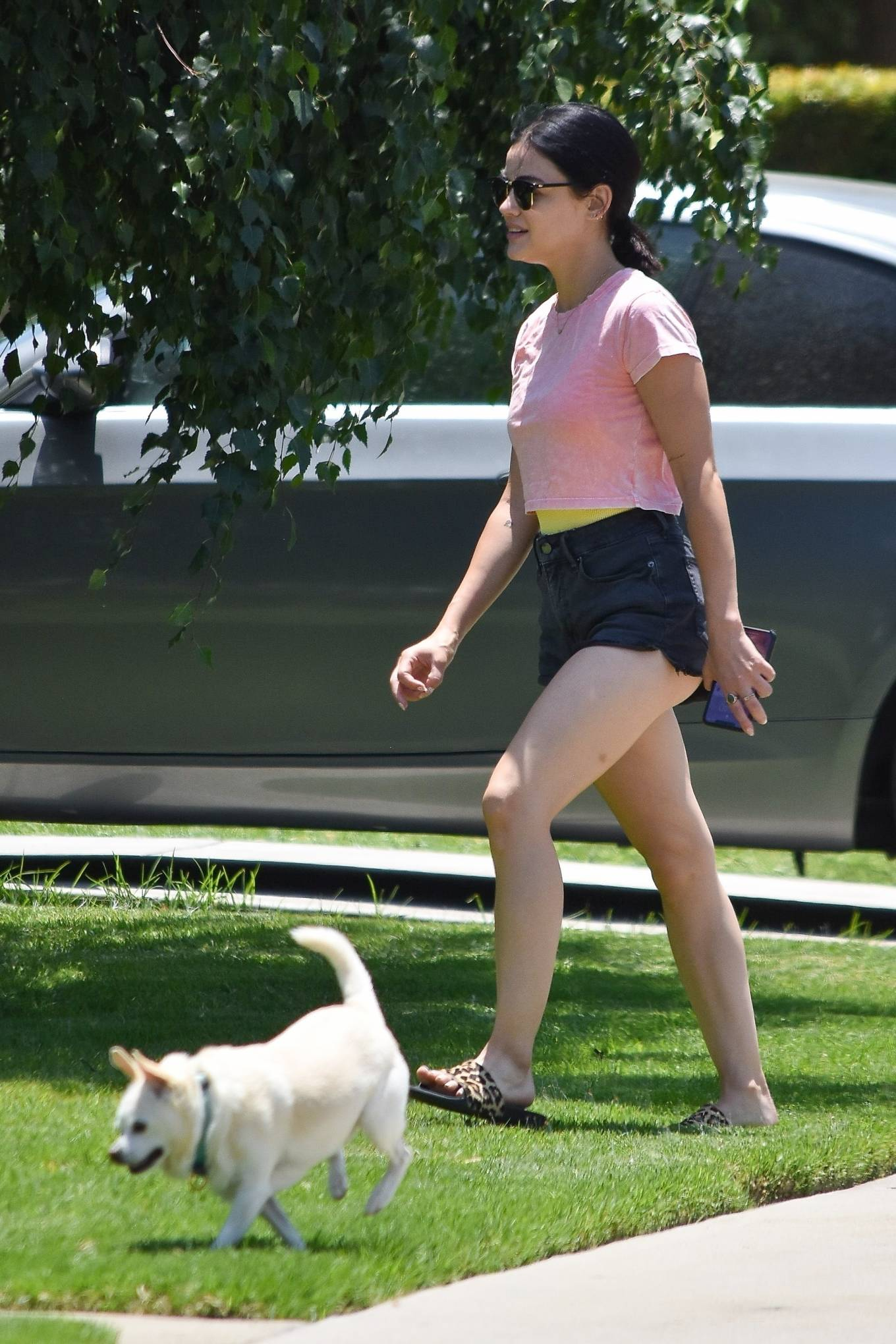 Lucy Hale 2020 : Lucy Hale – Stops by a friends house in Studio City-10