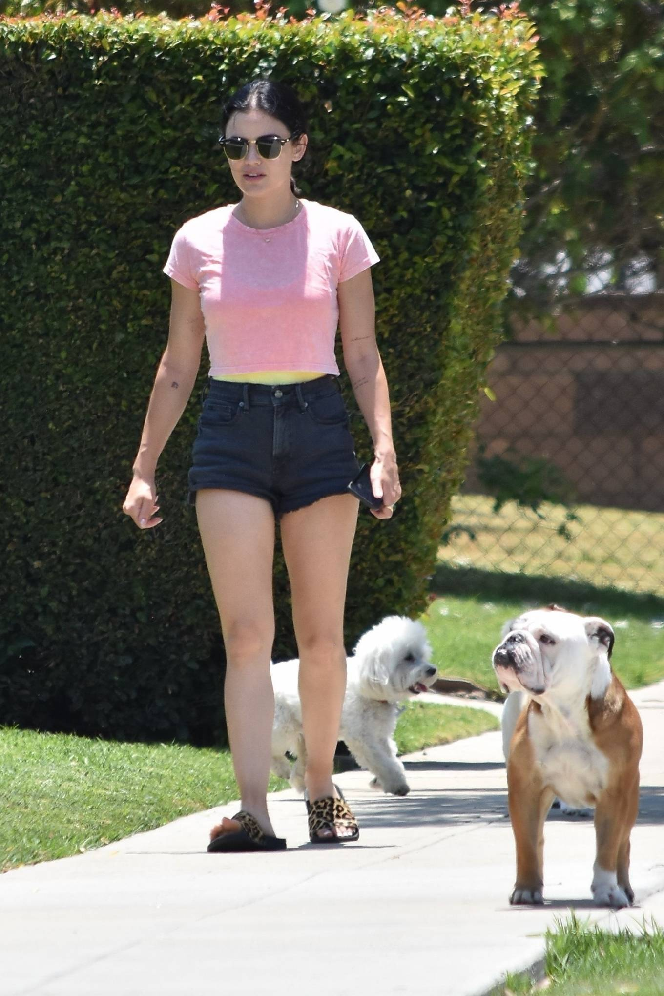 Lucy Hale 2020 : Lucy Hale – Stops by a friends house in Studio City-14