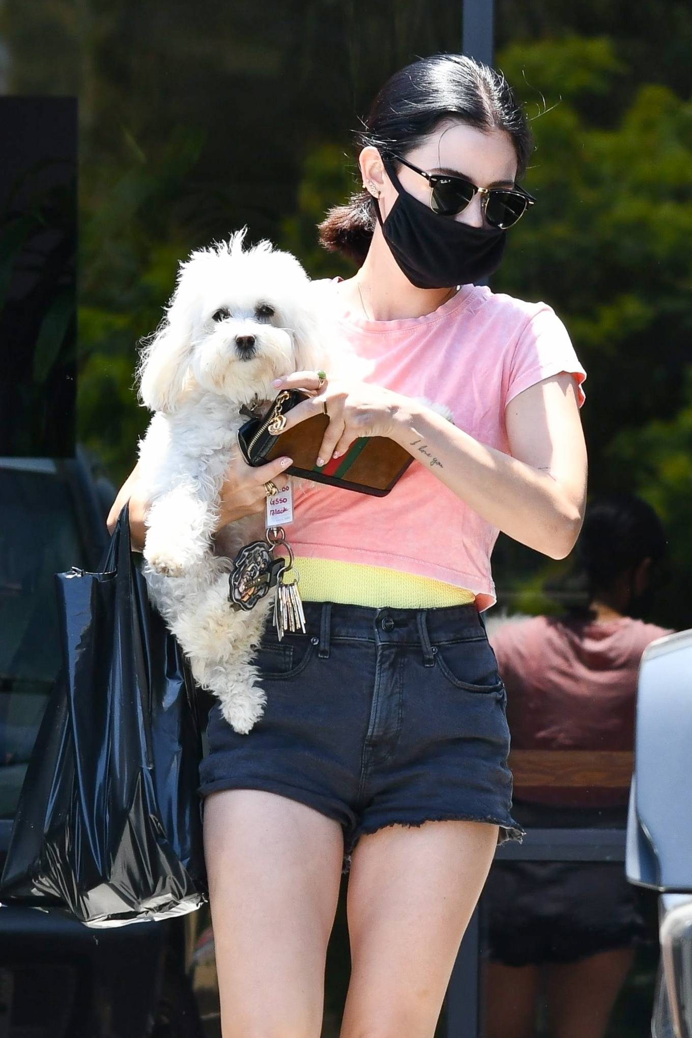 Lucy Hale 2020 : Lucy Hale – Stops by a friends house in Studio City-16
