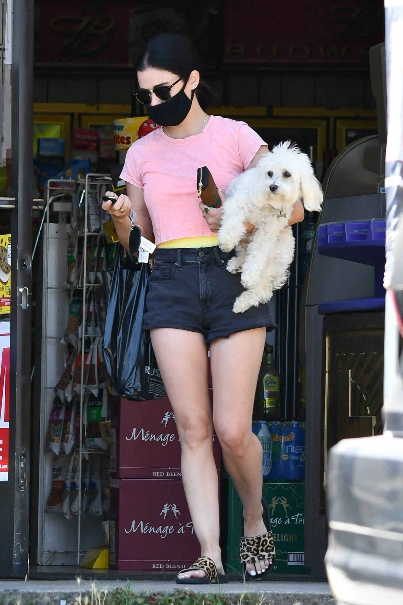 Lucy Hale 2020 : Lucy Hale – Stops by a friends house in Studio City-23