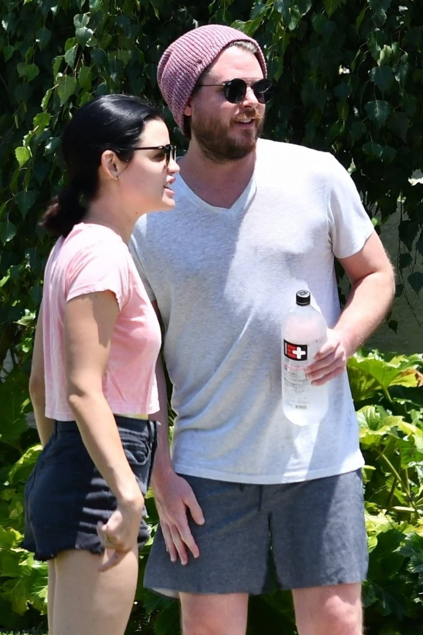 Lucy Hale 2020 : Lucy Hale – Stops by a friends house in Studio City-25