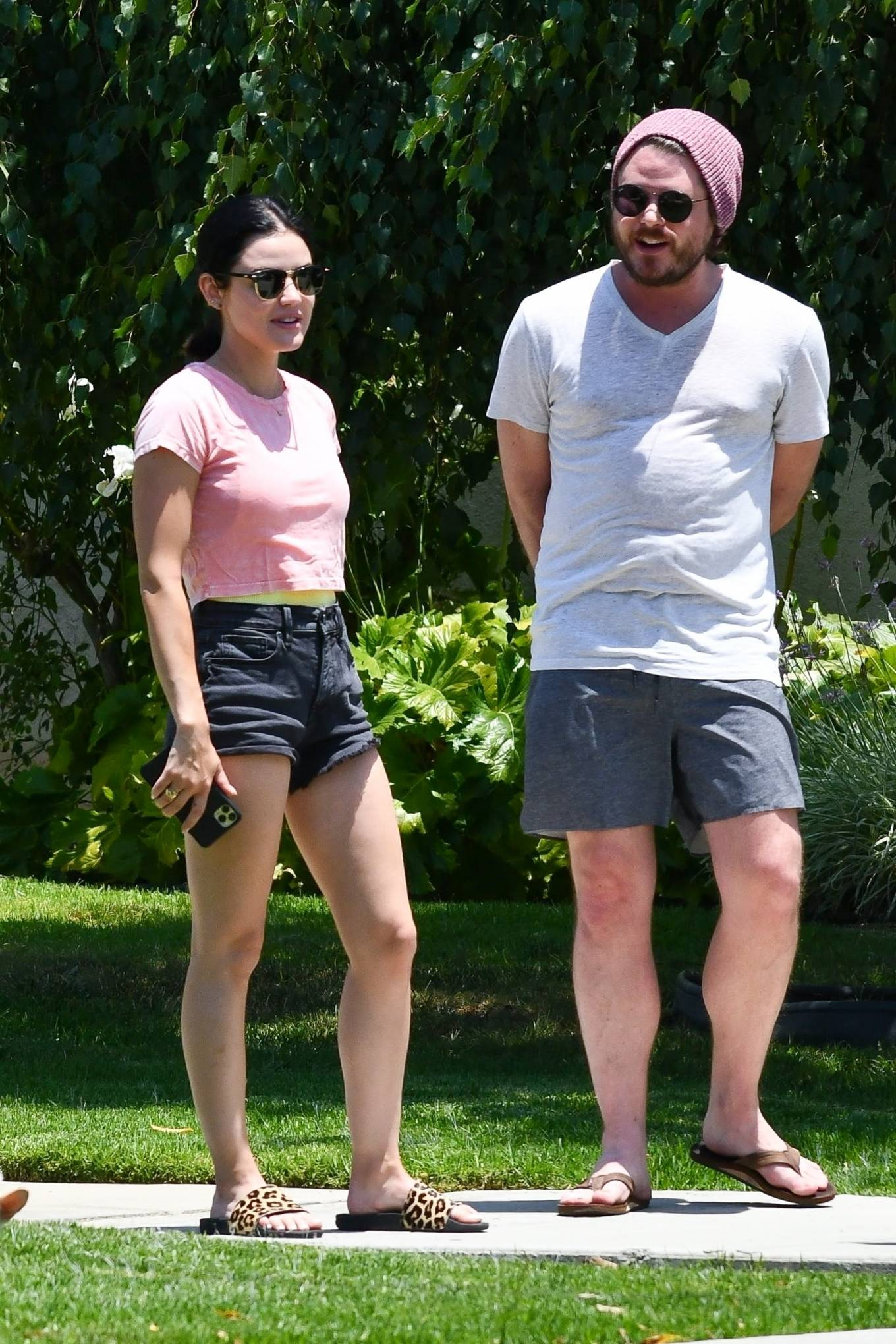 Lucy Hale 2020 : Lucy Hale – Stops by a friends house in Studio City-28