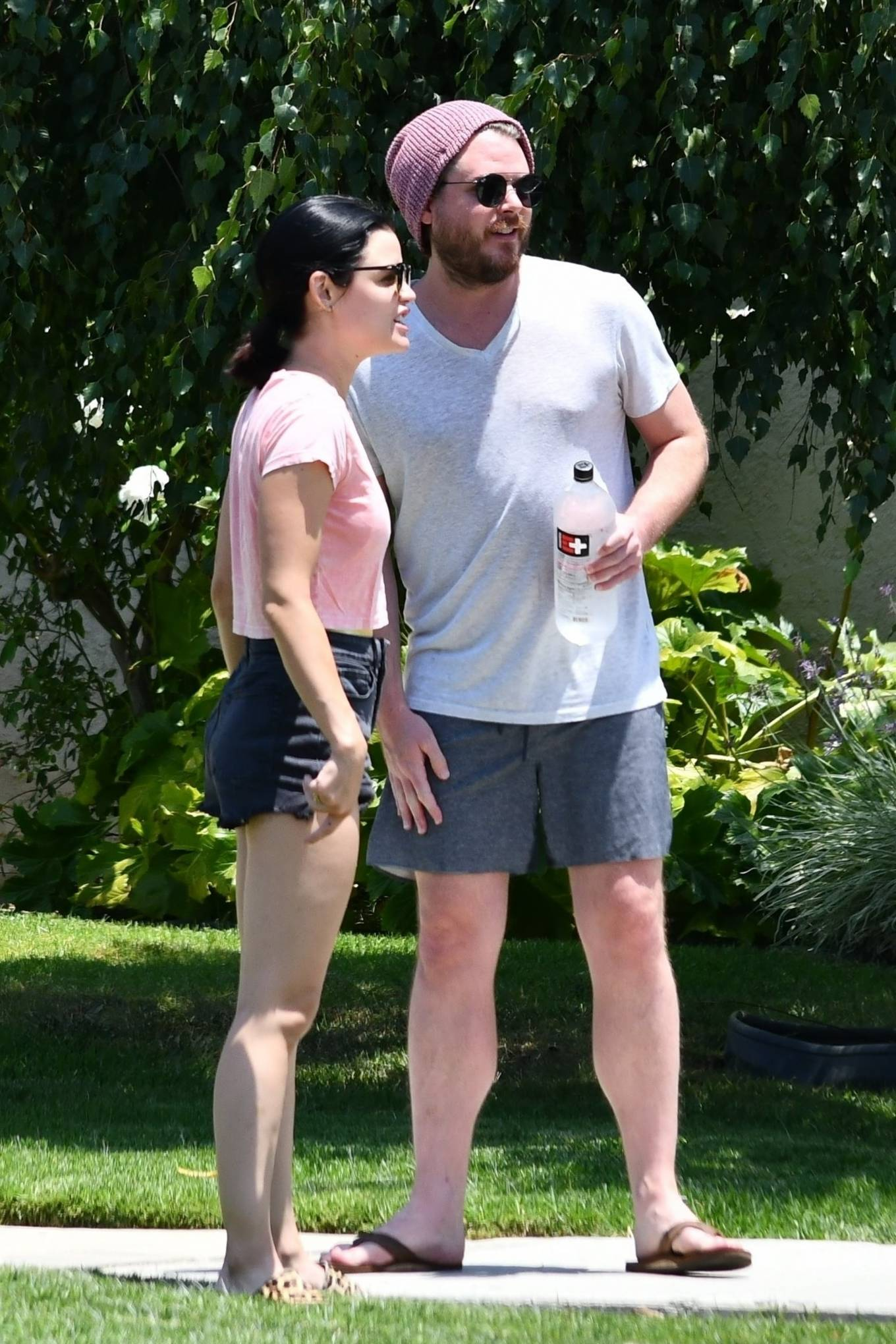 Lucy Hale 2020 : Lucy Hale – Stops by a friends house in Studio City-37