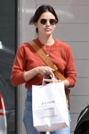 Lucy Hale - Stops by Starbucks in Studio City
