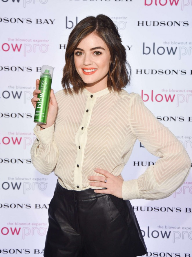 Lucy Hale - The Blowpro Launch at Hudson's Bay in Toronto