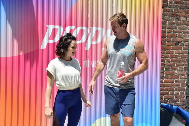 Lucy Hale - Trains for the Propel Co Labs Fitness Festival in West Hollywood