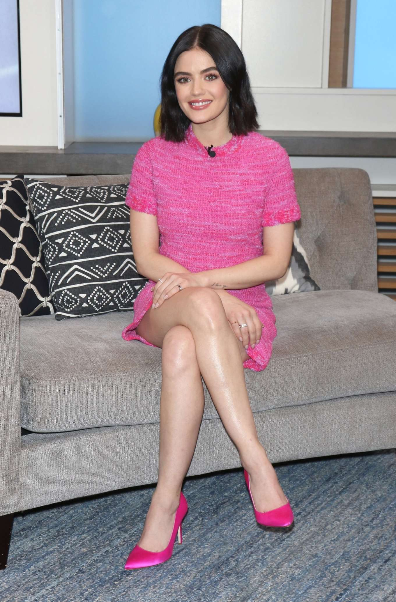 Lucy Hale - Visits People Now in New York