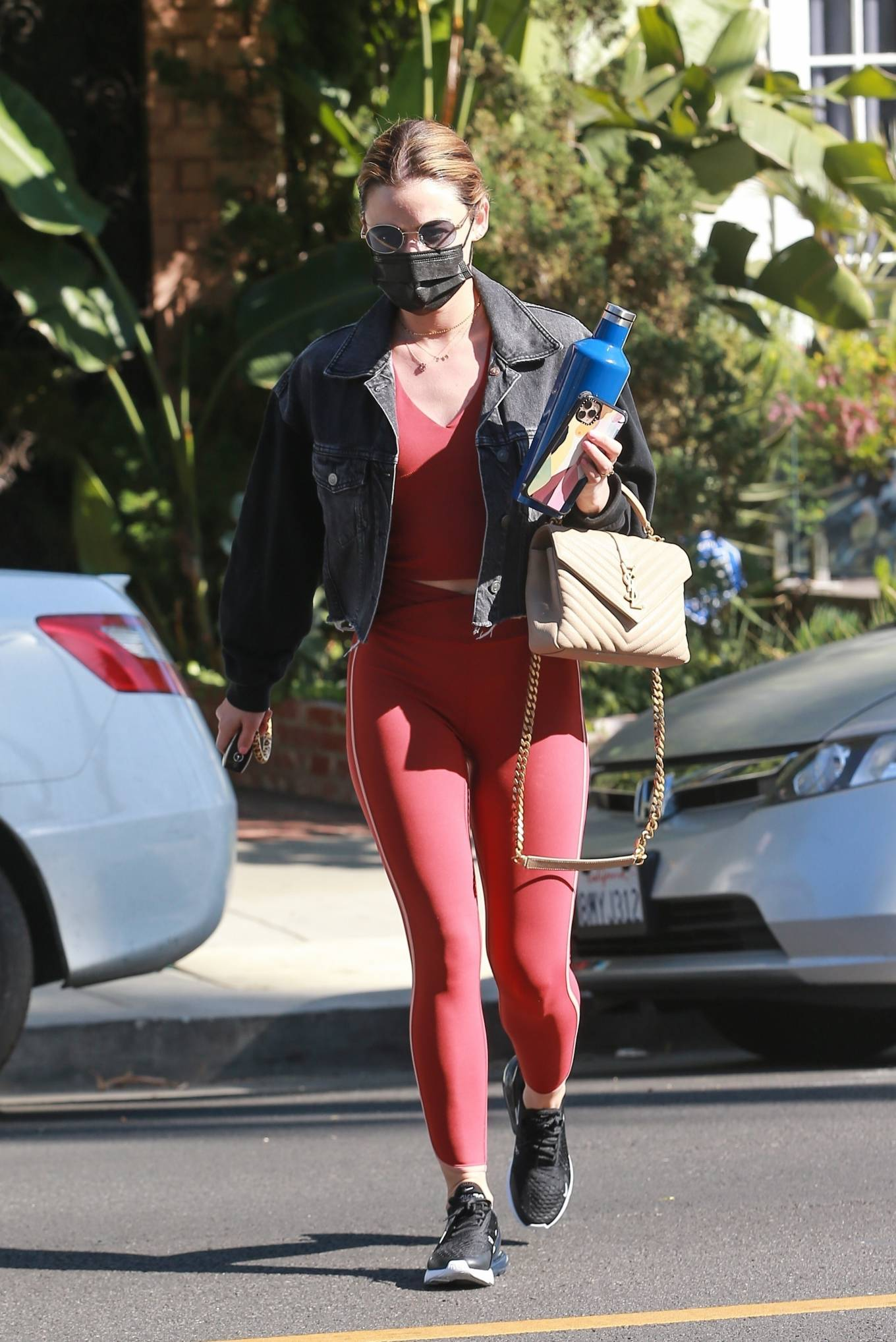 Lucy Hale - Visits the Le Jolie Medi Spa in West Hollywood