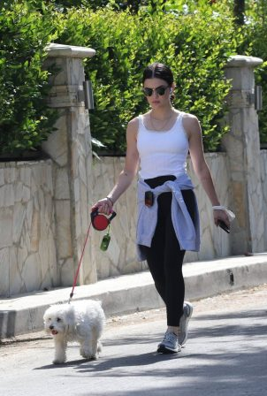 Lucy Hale - Walking Elvis in Los Angeles