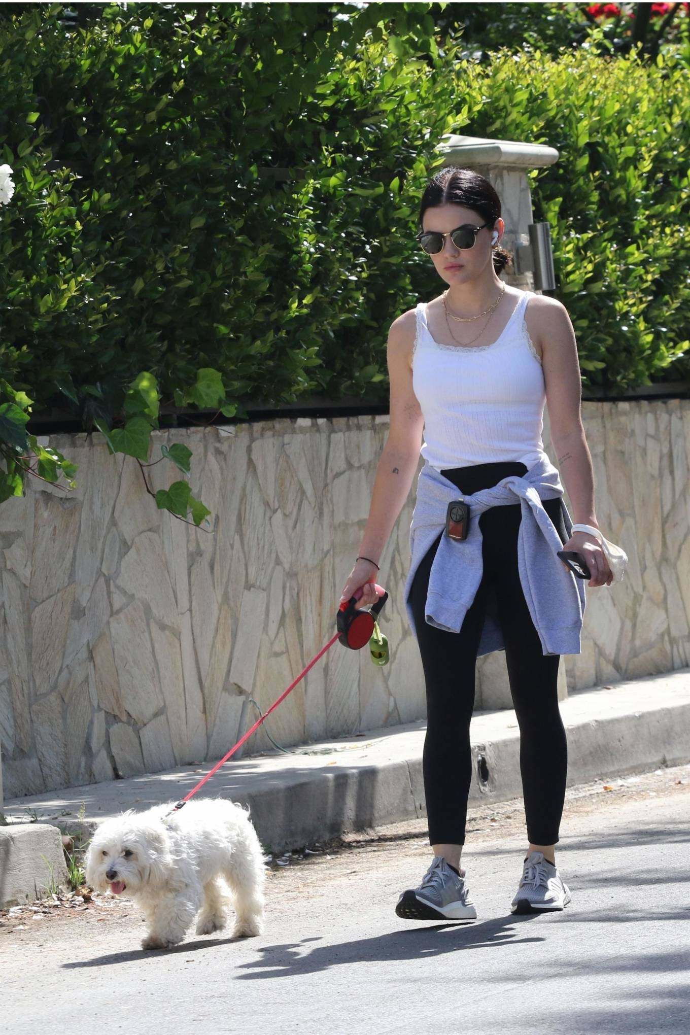 Lucy Hale - Walking Elvis in Los Angeles