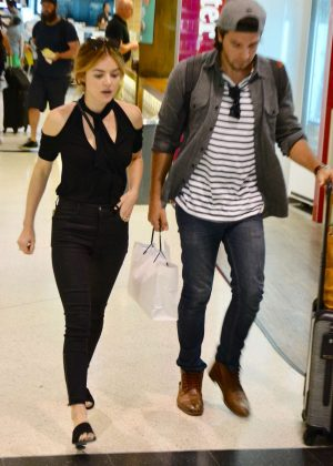 Lucy Hale With Her Boyfriend in Sydney