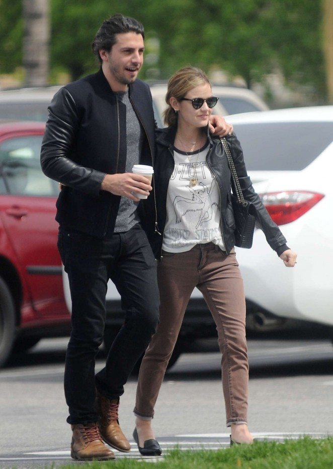 Lucy Hale with her boyfriend out in Beverly Hills