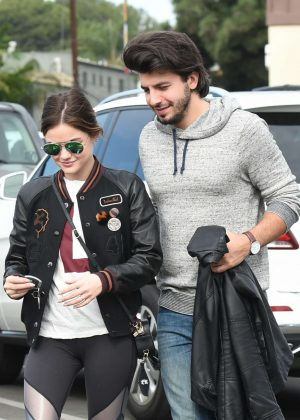 Lucy Hale with her boyfriend out in Los Angeles
