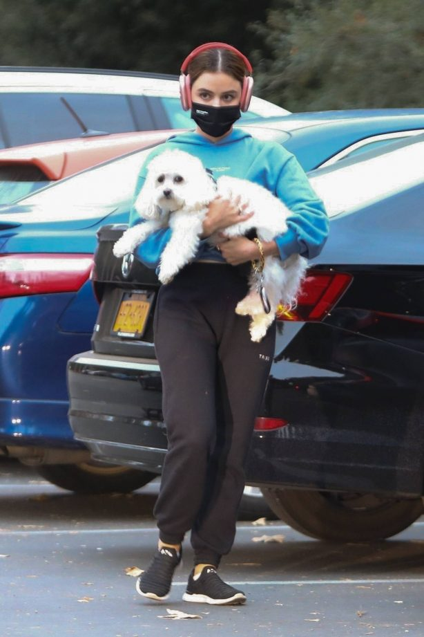 Lucy Hale - With her new puppy Ethel at Fryman Canyon in Los Angeles