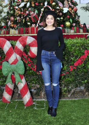 Lucy Hale - Words With Friends 2 Spread Holiday Cheer in LA