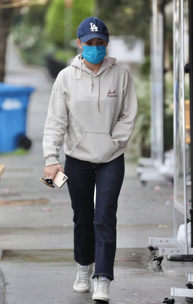 Lucy Hale - Wore a hoodie out in Los Angeles